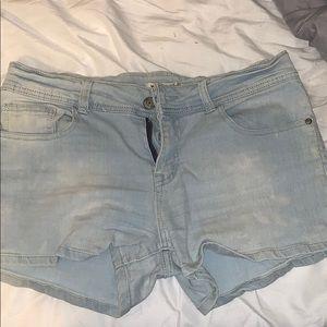 Blue Short Shorts